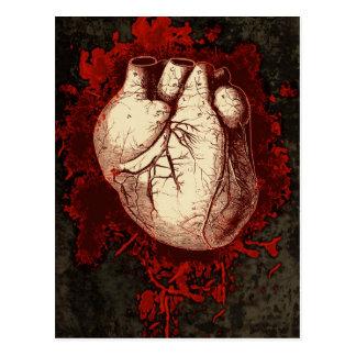 Herz und Spritzen Postkarte