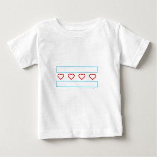 Herz- und Streifenfür immer Kontur Baby T-shirt