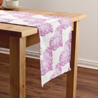 Herz und Tauben-Tabellen-Läufer Kurzer Tischläufer