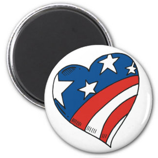 Herz USA-Flaggen-T-Shirts und Geschenke Runder Magnet 5,1 Cm
