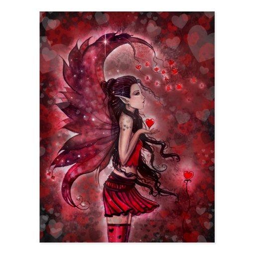Herz-Valentinsgruß-feenhafte Postkarte durch Molly
