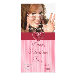 Herz-Valentinstag-Foto-Karte Individuelle Photo Karte