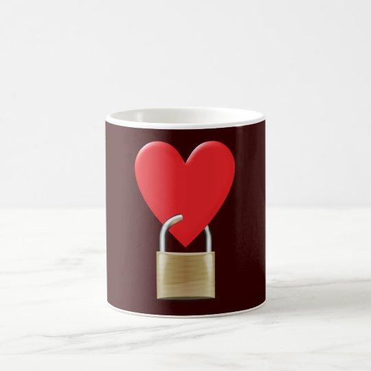 Herz verschlossen Schloss heart closed padlock Kaffeetasse