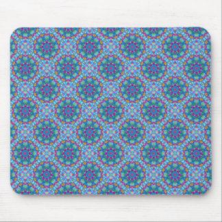 Herz-Vintages Kaleidoskop-Blau Mousepad