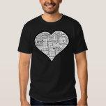 Herz voll der Liebe in den verschiedenen Sprachen Hemd