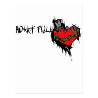 Herz voll der Schmerz Postkarte