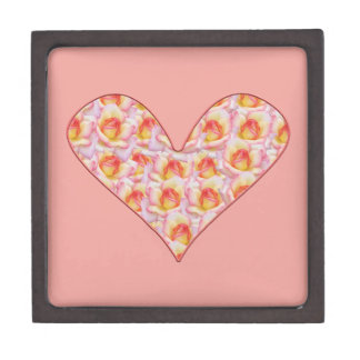 Herz voll des Rosen-Andenken-Kastens Kiste