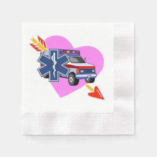 Herz von EMS Serviette