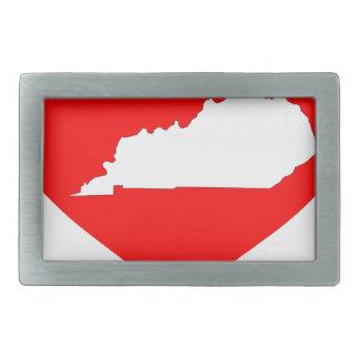 Herz von Kentucky Rechteckige Gürtelschnalle