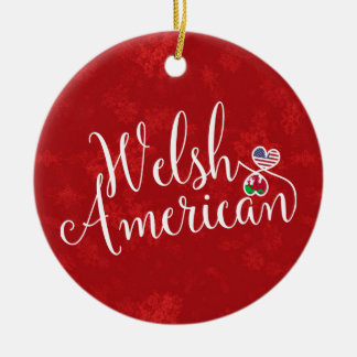 Herz-Weihnachtsbaum-Verzierung Walisers Keramik Ornament