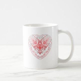 Herz-Weiß Kaffeetasse