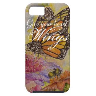 Herz Wings Schmetterlings-Aquarell-Kunst iPhone Hülle Fürs iPhone 5