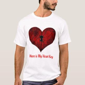 Herz, wo mein Herz-Schlüssel ist, Liebe, T-Shirt