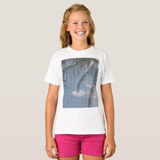 Herz-Wolken-Palme-Mädchen-T - Shirt