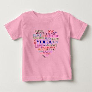 Herz-Yoga-Shirt - Baby-Yoga-Kleidung T-shirt