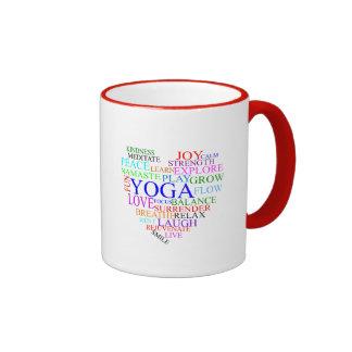 Herz-Yoga-Tasse - einzigartige Yoga-Geschenke Ringer Tasse