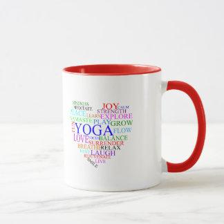 Herz-Yoga-Tasse - einzigartige Yoga-Geschenke Tasse