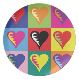 Herz-Zeiten neun Teller