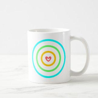 Herz-Ziel Kaffeetasse