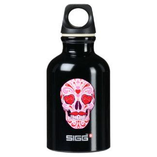 Herz-Zuckerschädel Wasserflasche