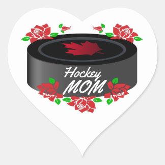 Herzaufkleber Hockey-Mamma-Kanada-Rosenahornblatt Herz-Aufkleber