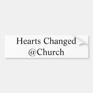 Herzen änderten @Church Aufkleber Autoaufkleber