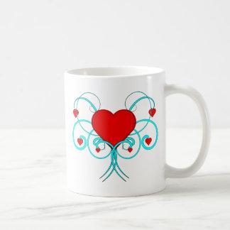 Herzen blühen kaffeetasse