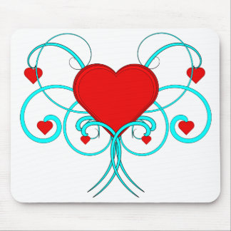 Herzen blühen Vektor Mousepad