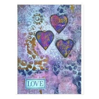Herzen der Liebe 3 Postkarte