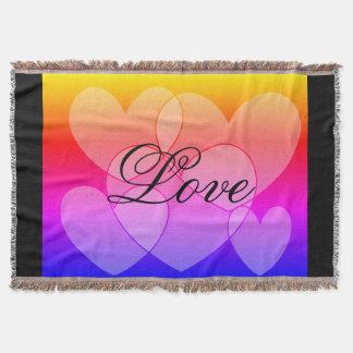 Herzen des Regenbogen-fünf: LiebeSDL Throw-Decke Decke