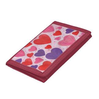 Herzen des Valentines Tagesim Rosa, lila u. rot
