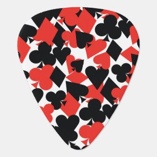 Herzen, Diamanten, Vereine und Spaten Plektrum