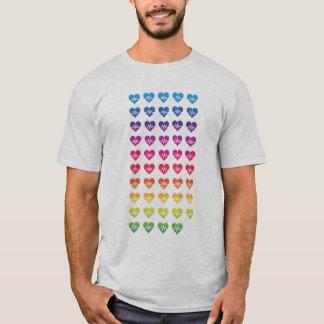Herzen eines Orlandos eins Impuls-Regenbogen-49 T-Shirt