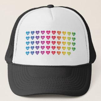 Herzen eines Orlandos eins Impuls-Regenbogen-49 Truckerkappe