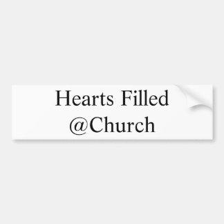 Herzen füllten @Church Aufkleber Autoaufkleber