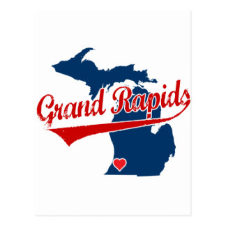 Herzen Grand Rapids Michigan Postkarte