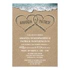 Herzen in den Sand-Proben-Abendessen-Einladungen Karte