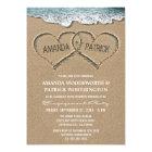 Herzen in den Sand-Verlobungs-Party Einladungen