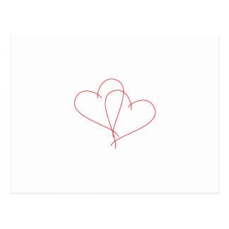 Herzen öffnen sich postkarte