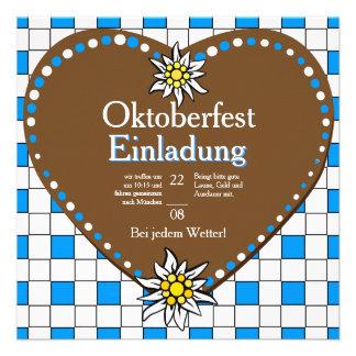 Herzen Oktoberfest Einladung