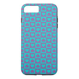 Herzen reichlich lila und blau iPhone 8 plus/7 plus hülle