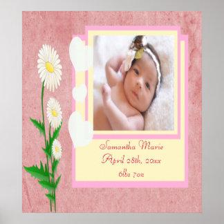 Herzen u. Gänseblümchen Poster