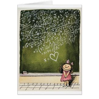 Herzen u. Mathe Grußkarte