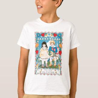 Herzen und Gänseblümchen-Valentinsgruß T-Shirt