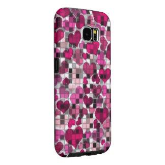 Herzen und Karos, rosa
