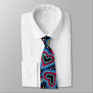 Herzen und Paillette Krawatte