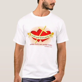 Herzen verbunden von der Liebe des Gottes T-Shirt