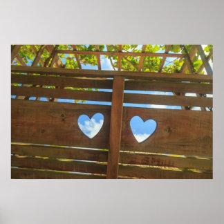 Herzform in einem Zaun, Belize Poster