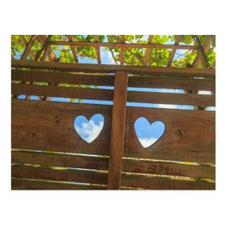 Herzform in einem Zaun, Belize Postkarte