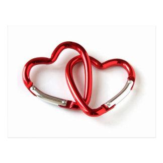 Herzform-Schlüsselkette. Liebe Postkarte